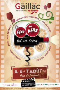 Affiche pour la trente-huitième édition de la fête des vins de Gaillac en 2016. Vins Gaillac.